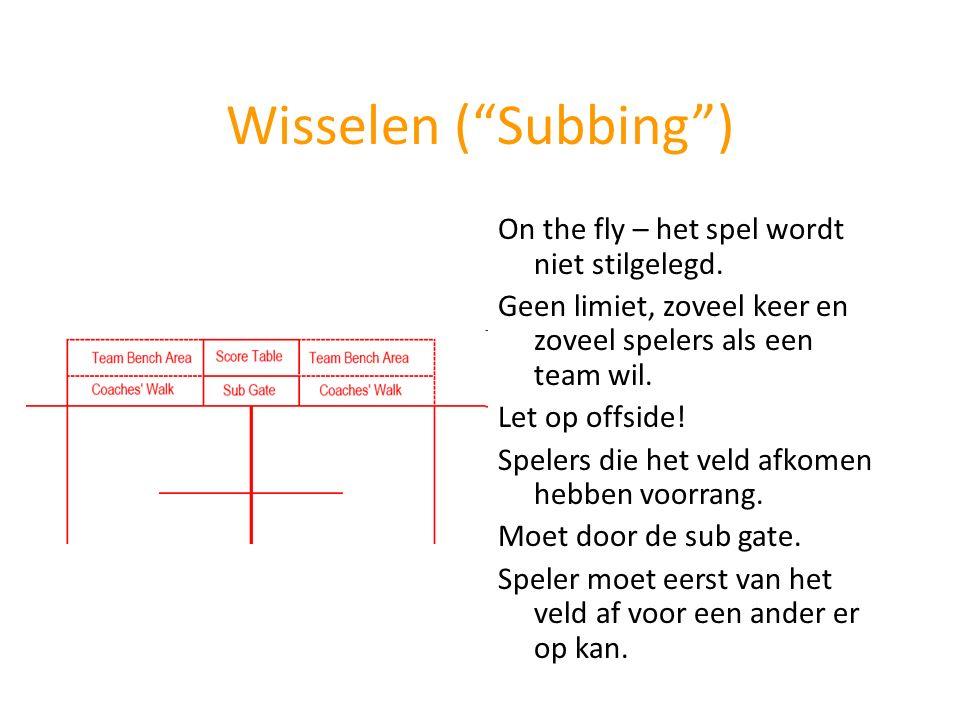 Wisselen ( Subbing ) On the fly – het spel wordt niet stilgelegd.