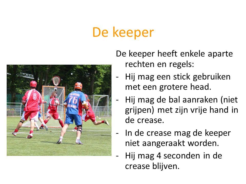 De keeper De keeper heeft enkele aparte rechten en regels: