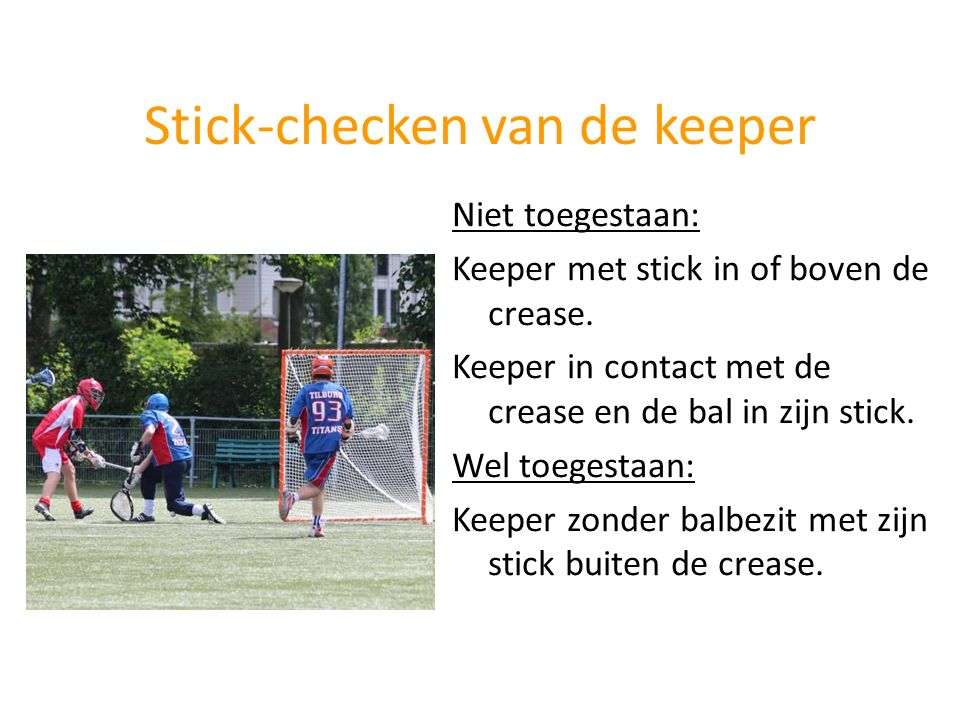 Stick-checken van de keeper