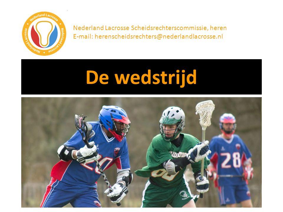 De wedstrijd Nederland Lacrosse Scheidsrechterscommissie, heren