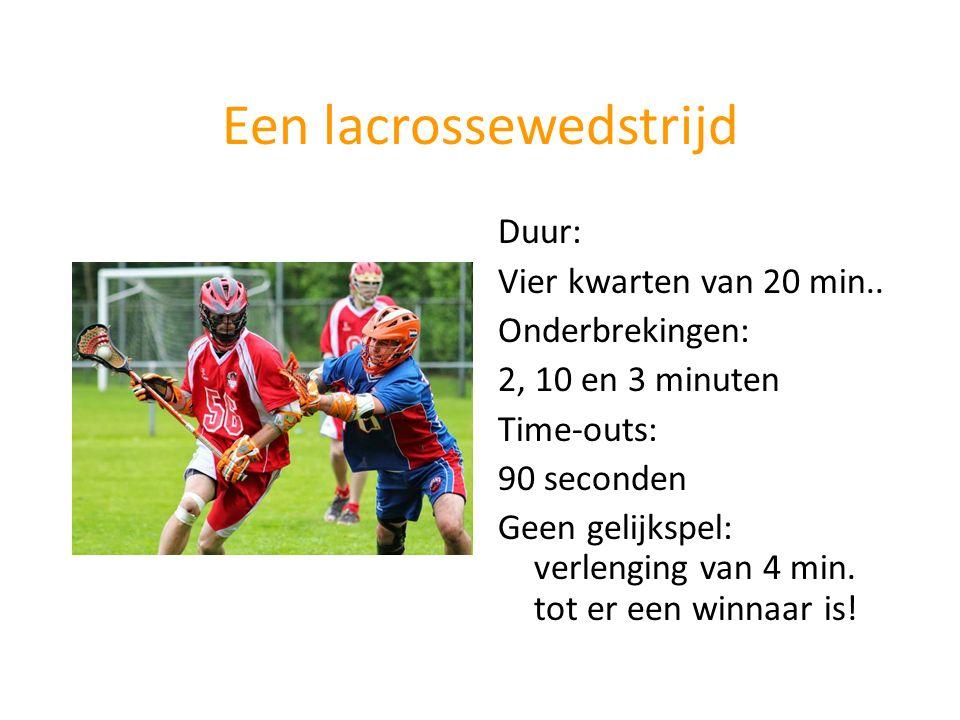 Een lacrossewedstrijd