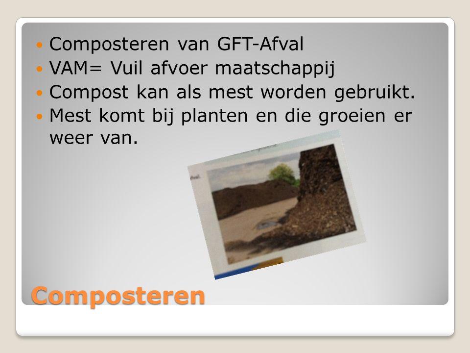 Composteren Composteren van GFT-Afval VAM= Vuil afvoer maatschappij
