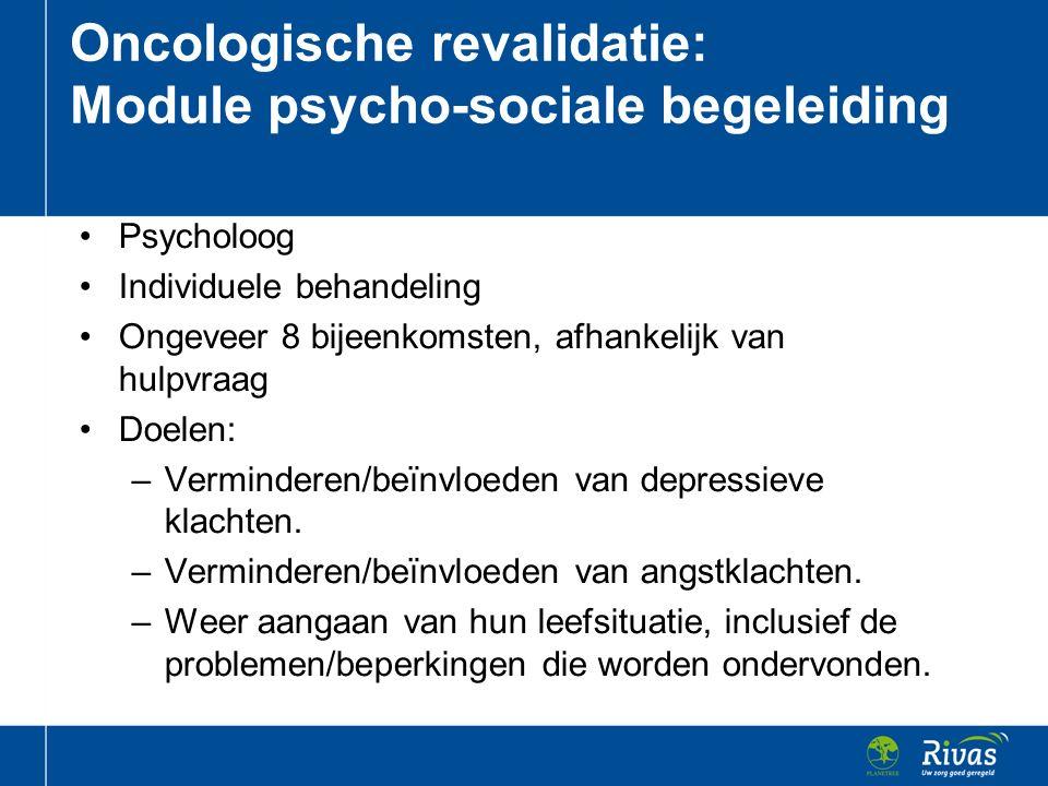 Oncologische revalidatie: Module psycho-sociale begeleiding