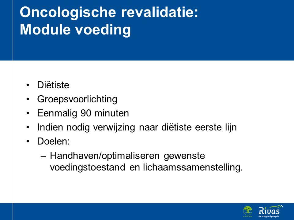 Oncologische revalidatie: Module voeding