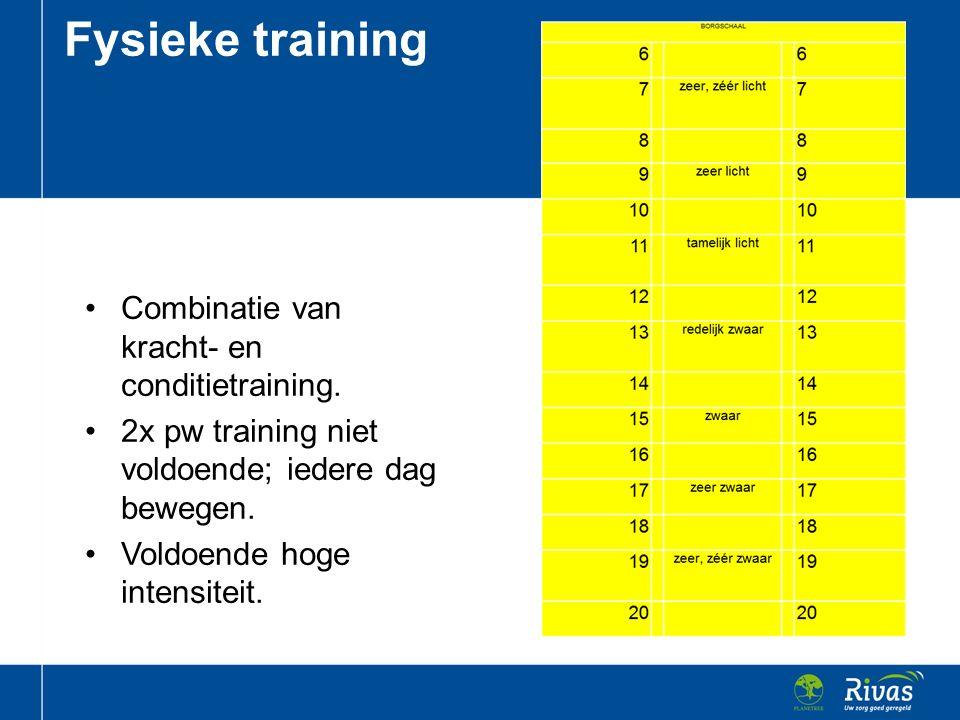 Fysieke training Combinatie van kracht- en conditietraining.