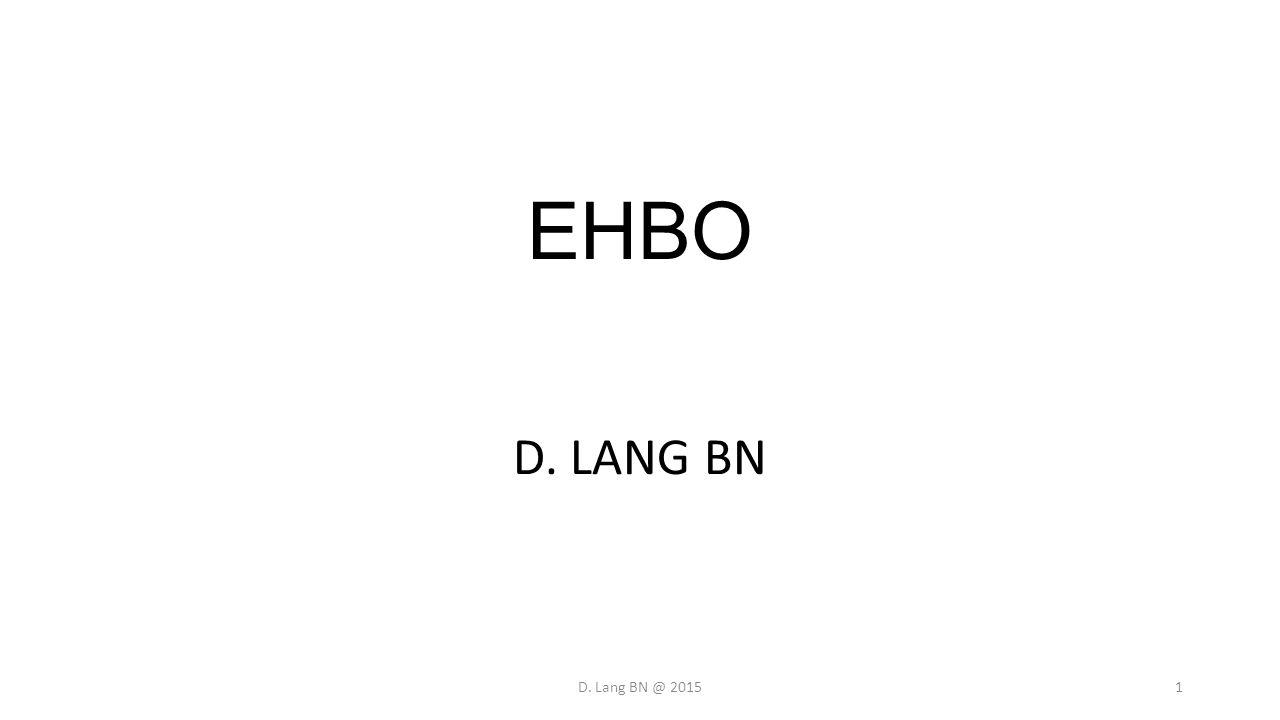EHBO D. LANG BN D. Lang BN @ 2015