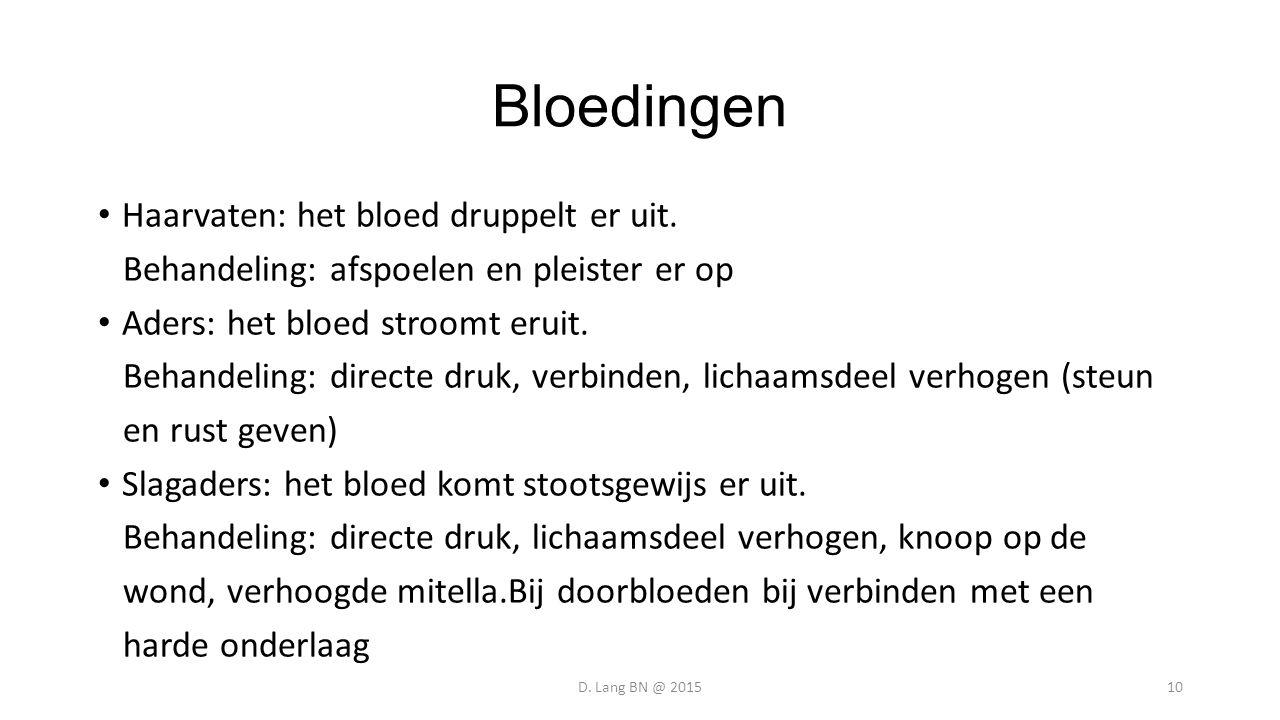 Bloedingen Haarvaten: het bloed druppelt er uit.