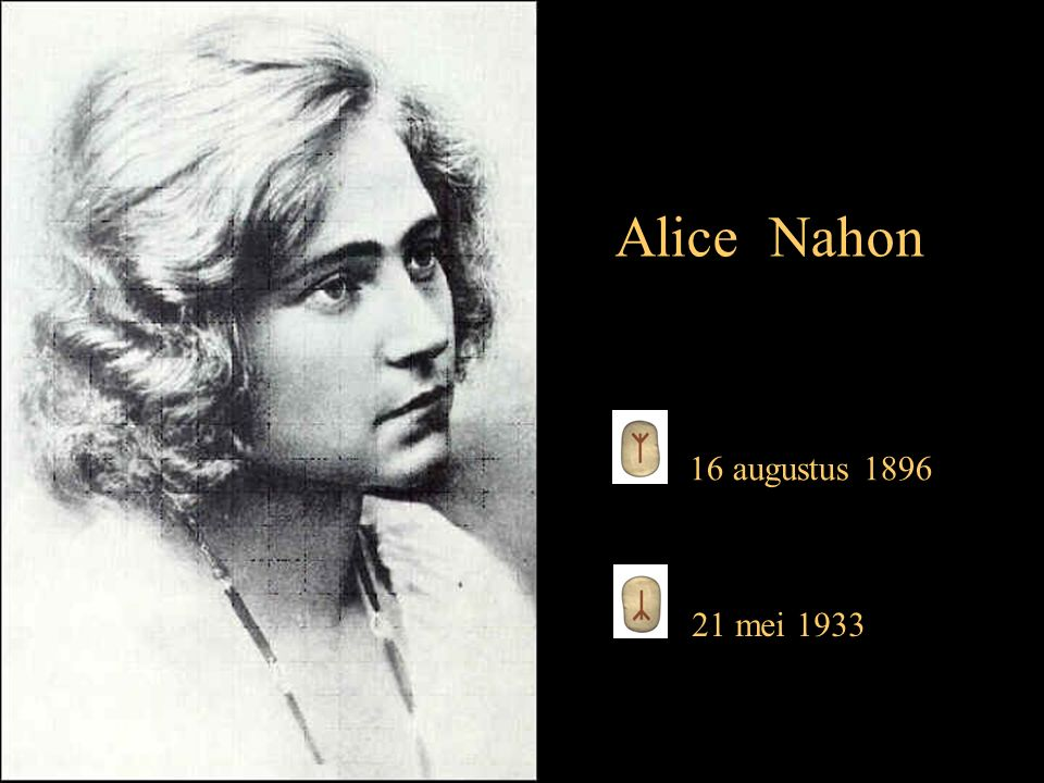 Alice Nahon 16 augustus 1896 21 mei 1933
