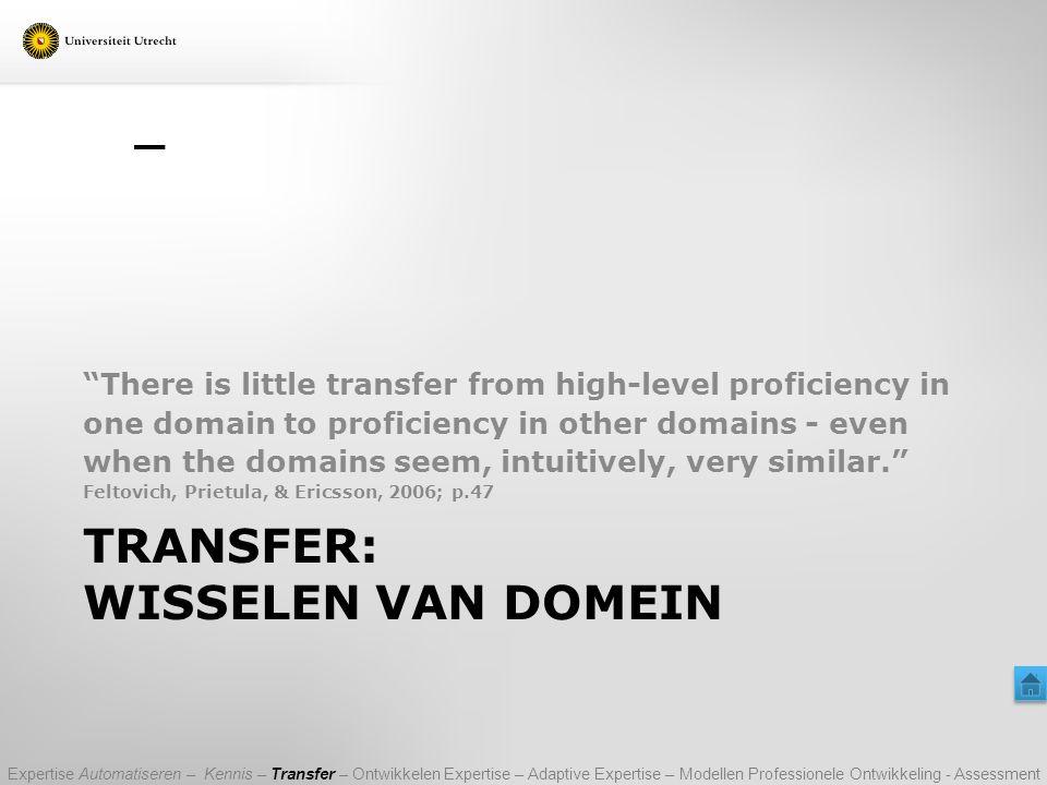 Transfer: Wisselen van Domein