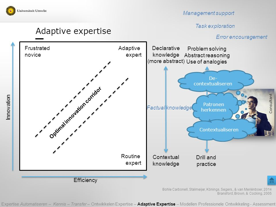 Adaptive expertise Management support Task exploration