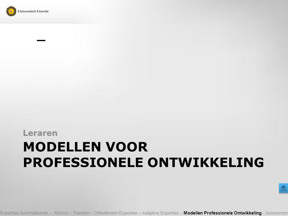Modellen voor professionele ontwikkeling