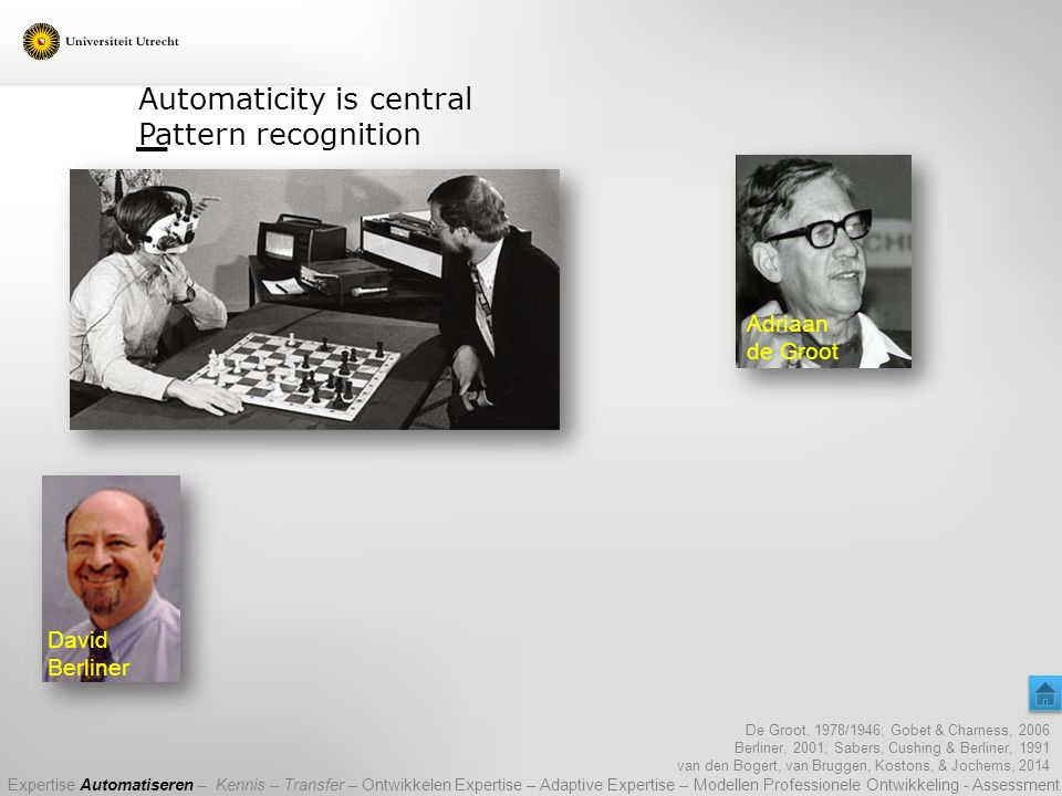 Automaticity is central Pattern recognition
