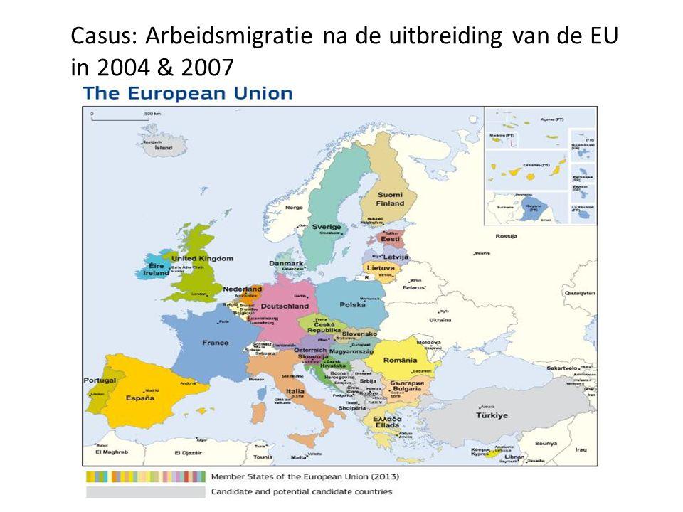Casus: Arbeidsmigratie na de uitbreiding van de EU
