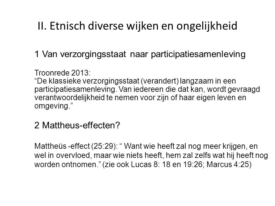 II. Etnisch diverse wijken en ongelijkheid