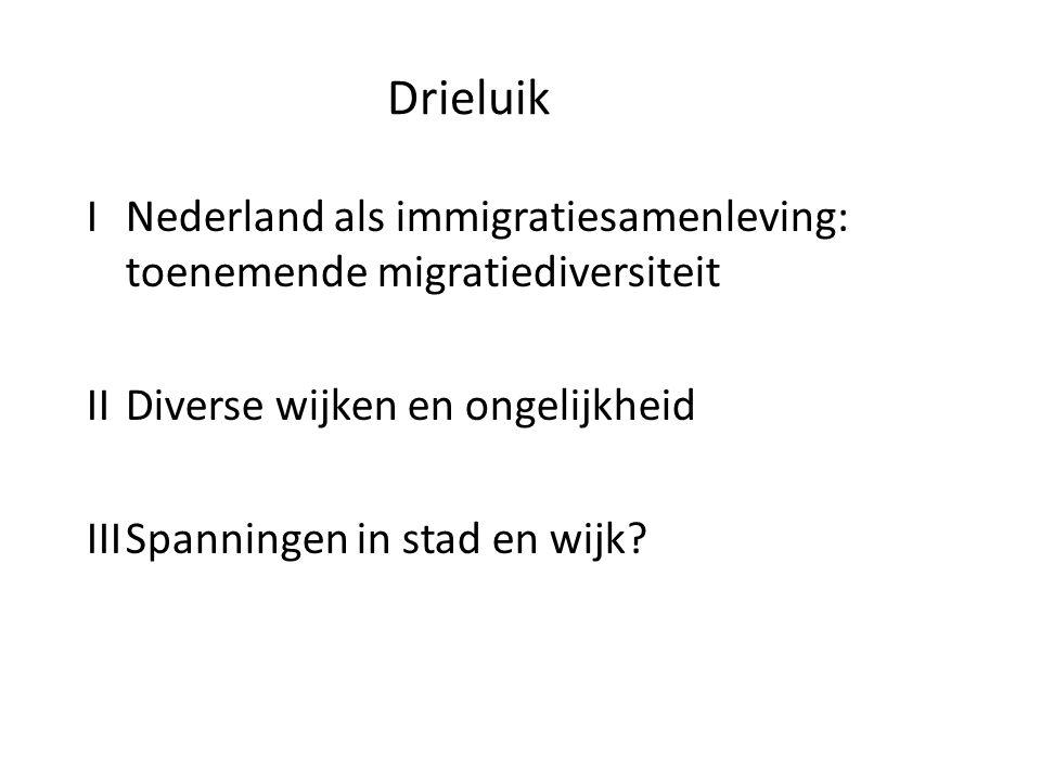 Drieluik I Nederland als immigratiesamenleving: toenemende migratiediversiteit. II Diverse wijken en ongelijkheid.