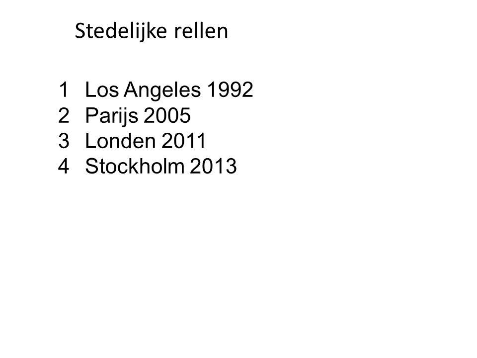 Stedelijke rellen Los Angeles 1992 Parijs 2005 Londen 2011