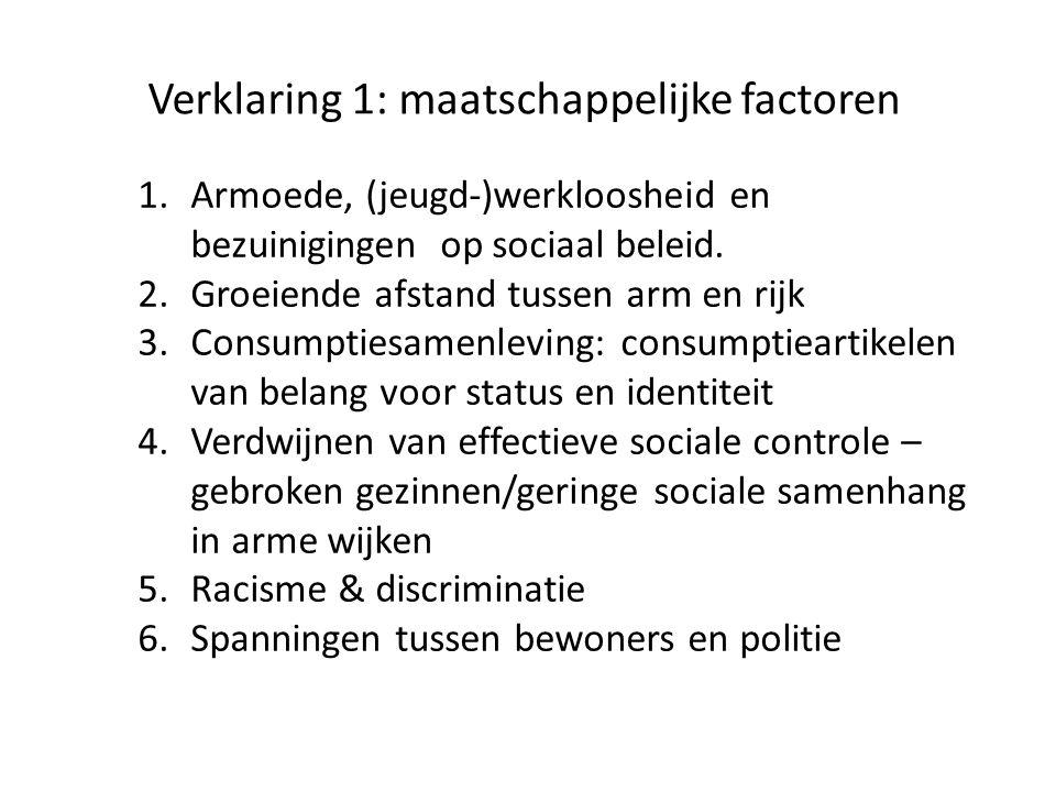 Verklaring 1: maatschappelijke factoren