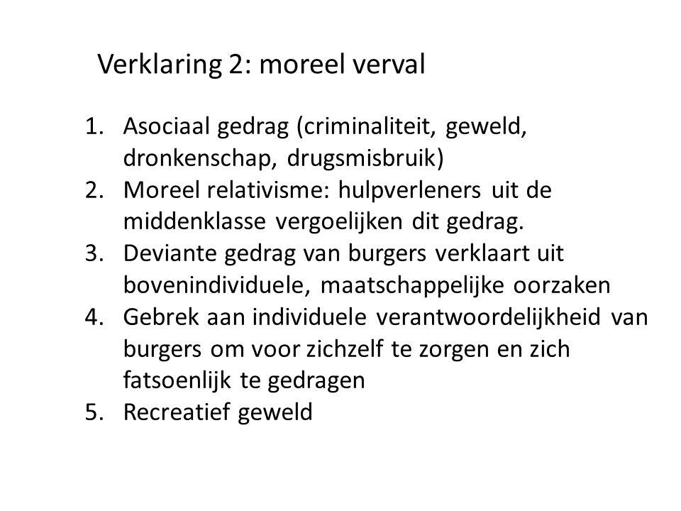 Verklaring 2: moreel verval