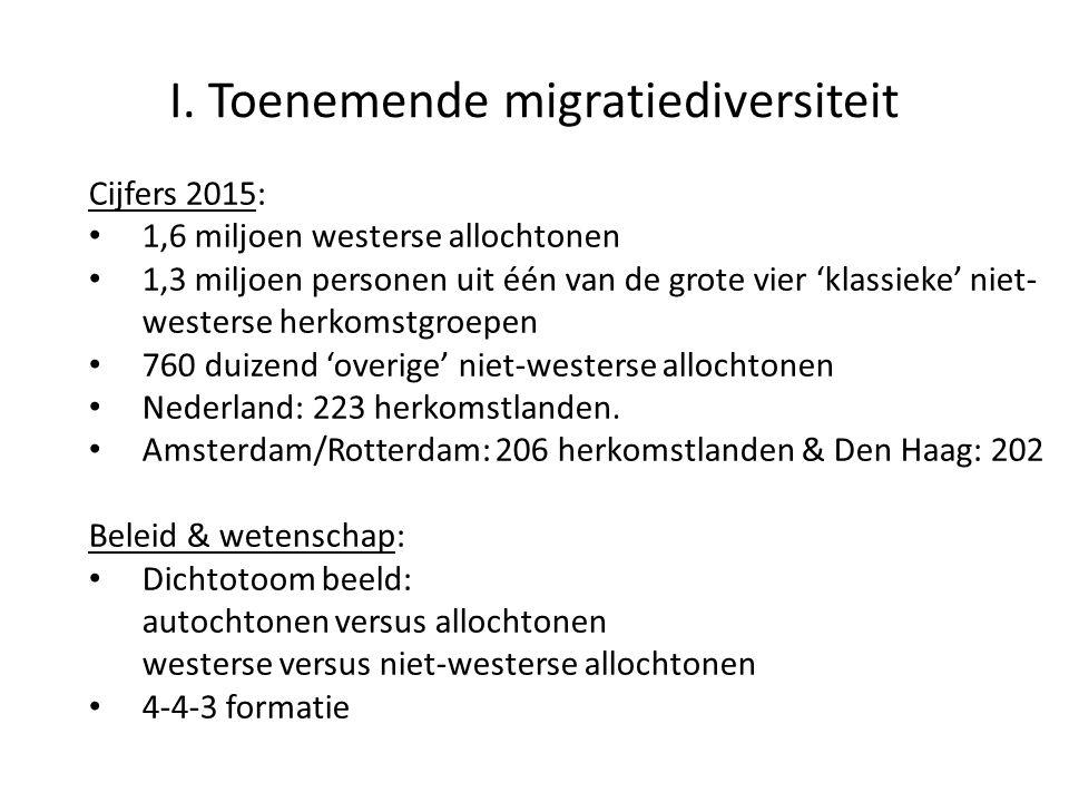 I. Toenemende migratiediversiteit