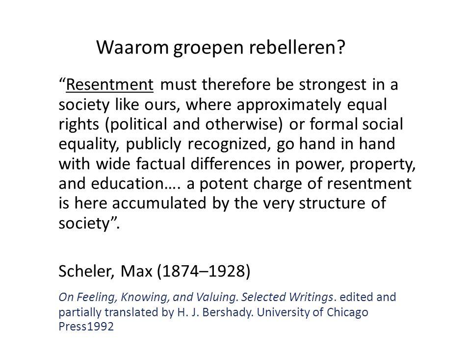 Waarom groepen rebelleren