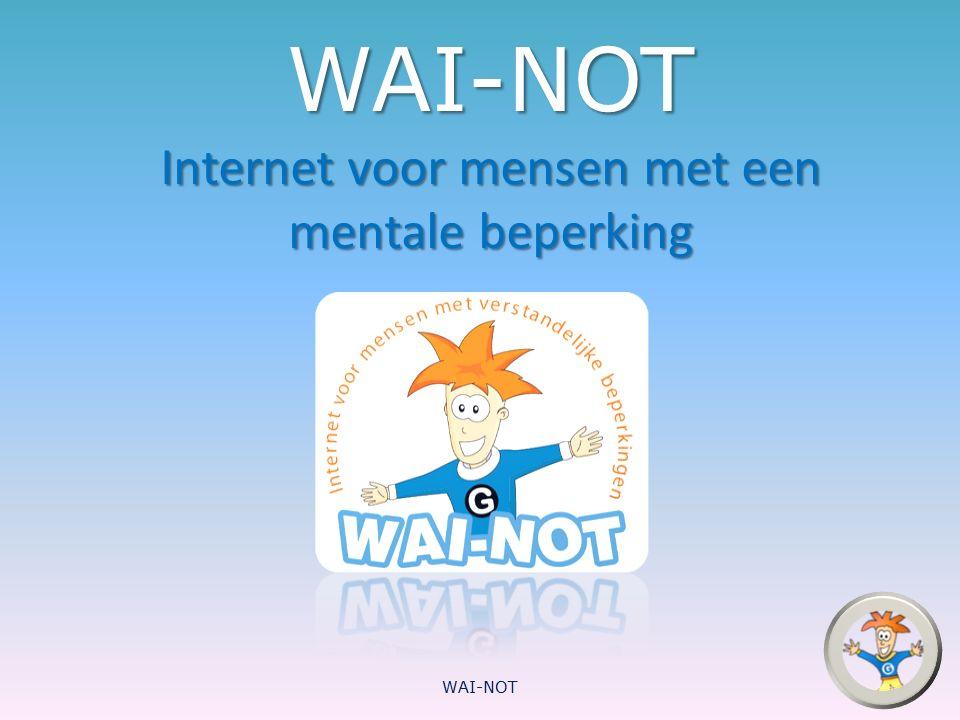 WAI-NOT Internet voor mensen met een mentale beperking