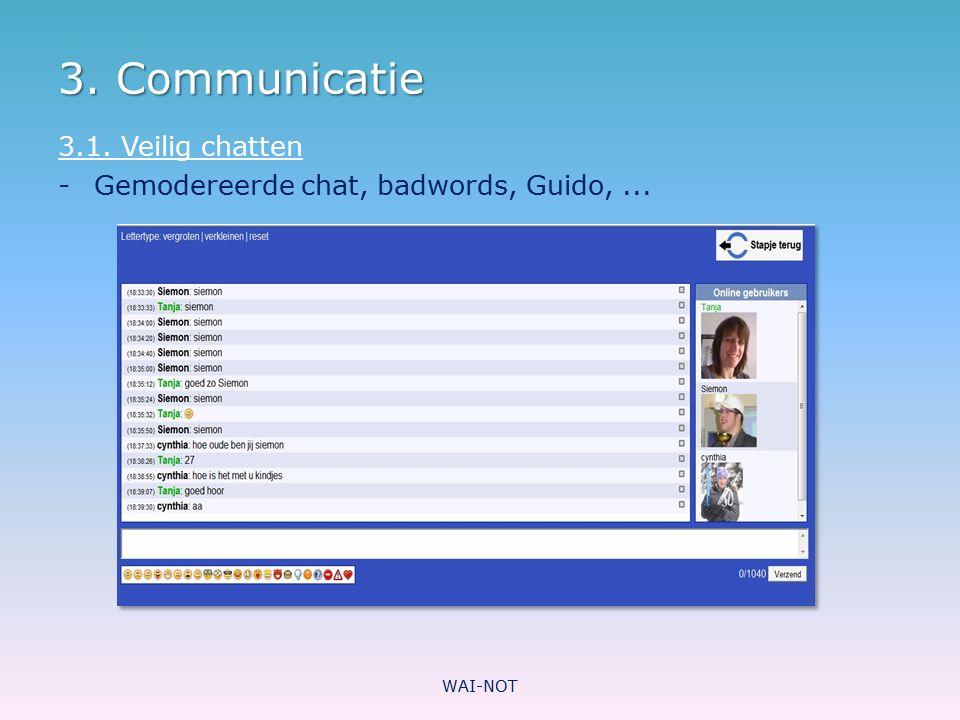 3. Communicatie 3.1. Veilig chatten