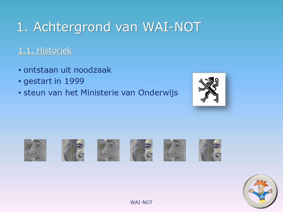 1. Achtergrond van WAI-NOT
