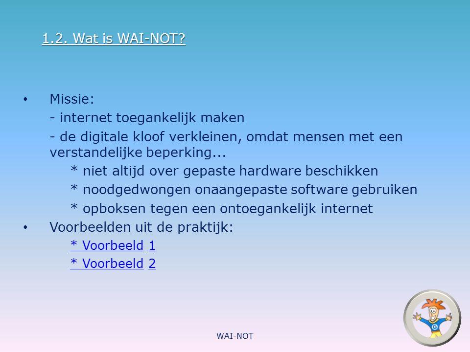 - internet toegankelijk maken