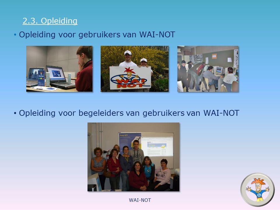 Opleiding voor gebruikers van WAI-NOT