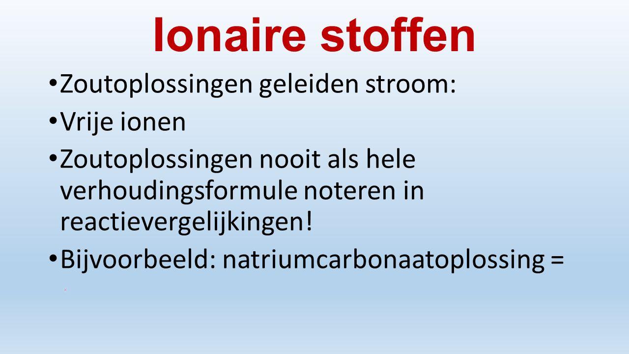Ionaire stoffen Zoutoplossingen geleiden stroom: Vrije ionen