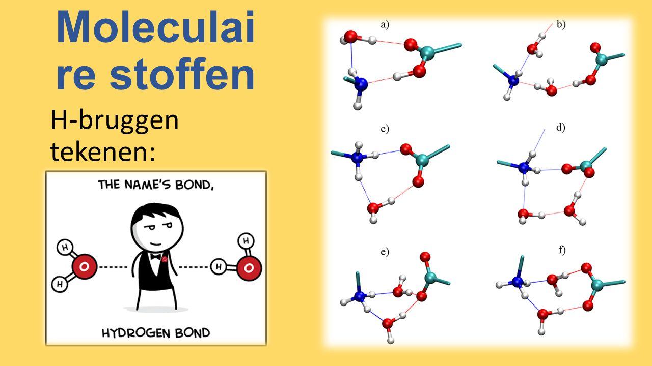 Moleculaire stoffen H-bruggen tekenen: