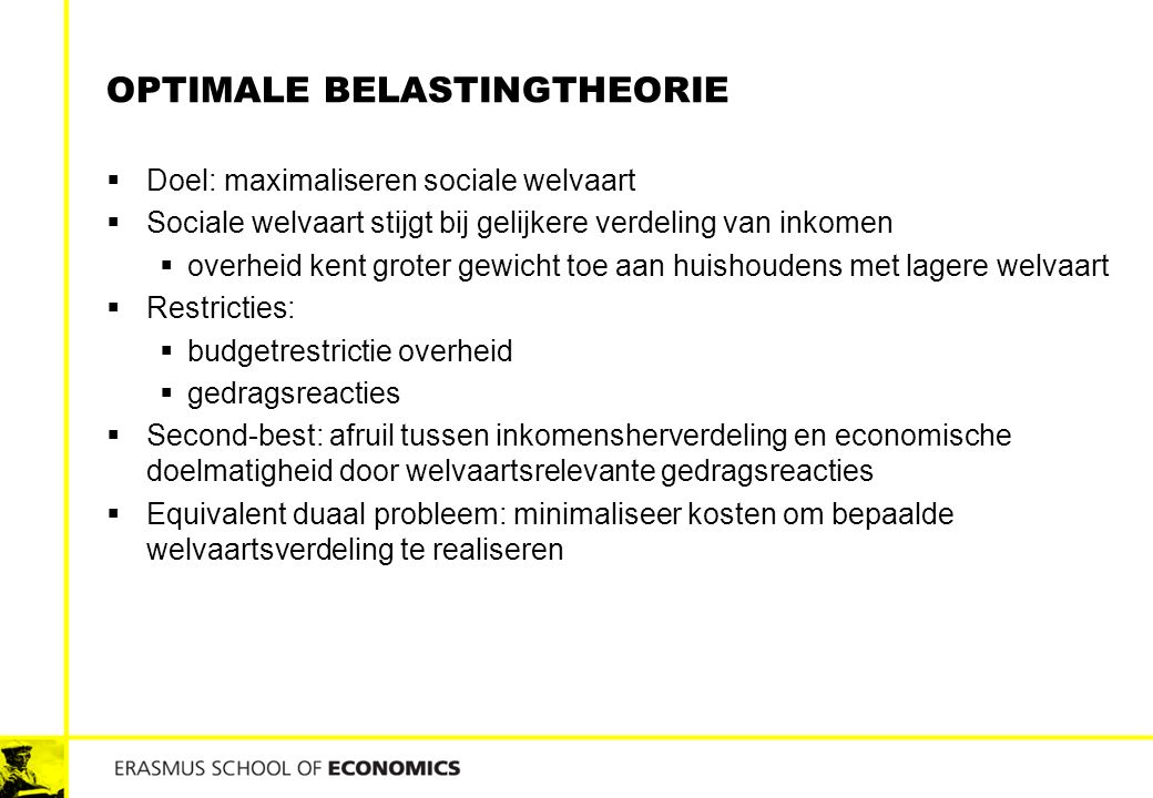 Optimale belastingtheorie