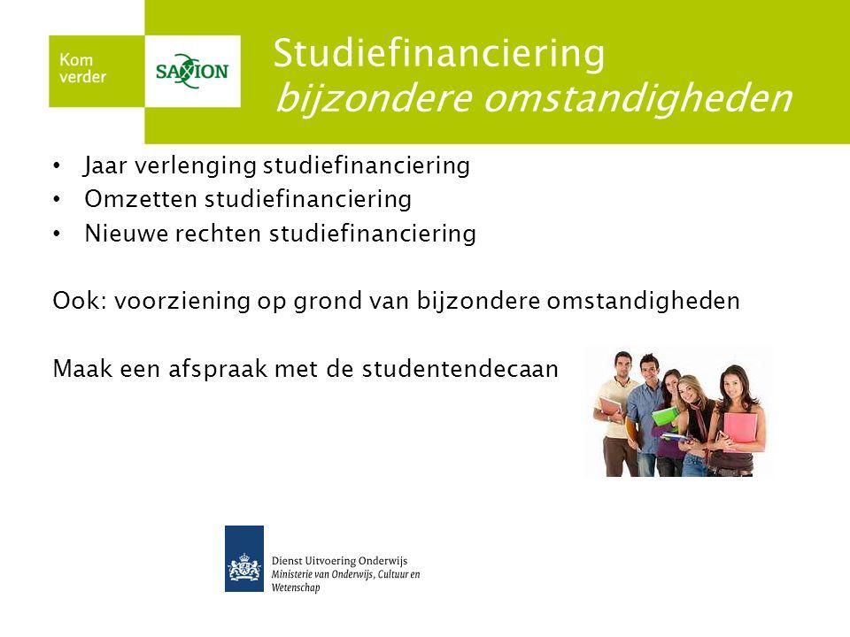 Studiefinanciering bijzondere omstandigheden