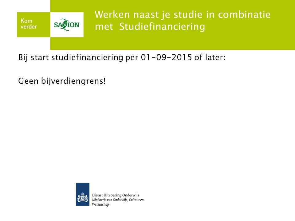 Werken naast je studie in combinatie met Studiefinanciering