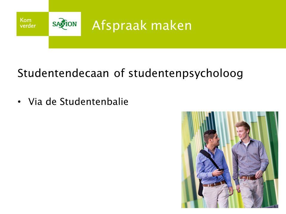 Afspraak maken Studentendecaan of studentenpsycholoog