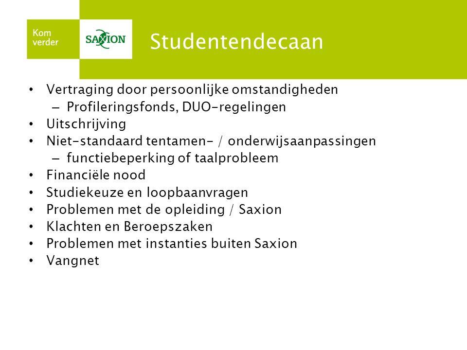 Studentendecaan Vertraging door persoonlijke omstandigheden