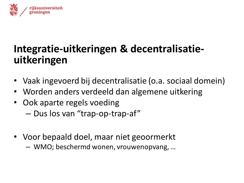 Integratie-uitkeringen & decentralisatie-uitkeringen