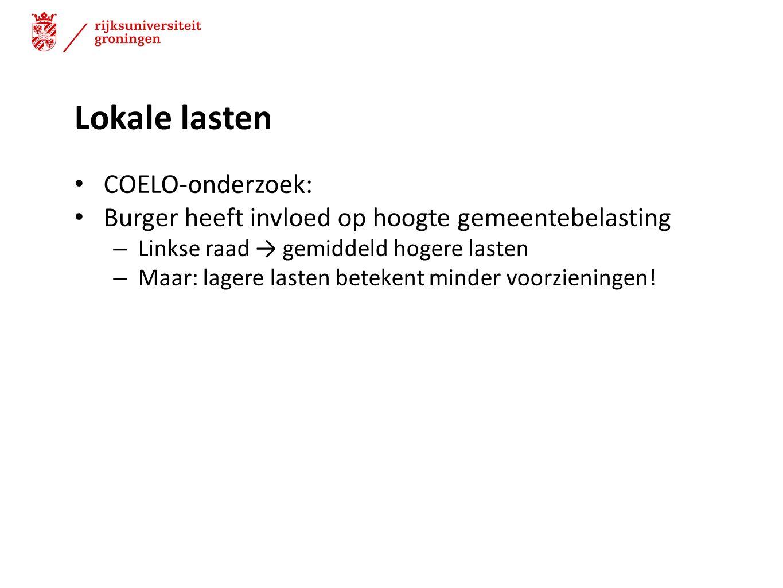 Lokale lasten COELO-onderzoek: