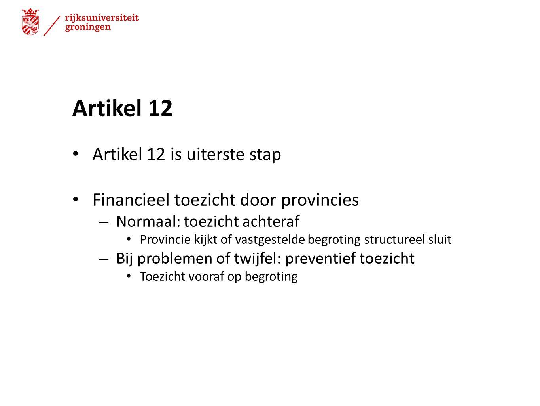 Artikel 12 Artikel 12 is uiterste stap
