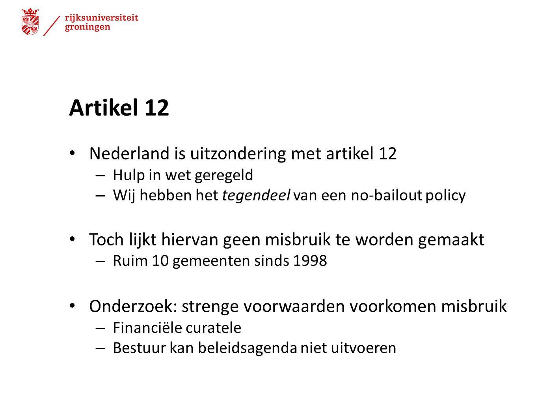Artikel 12 Nederland is uitzondering met artikel 12