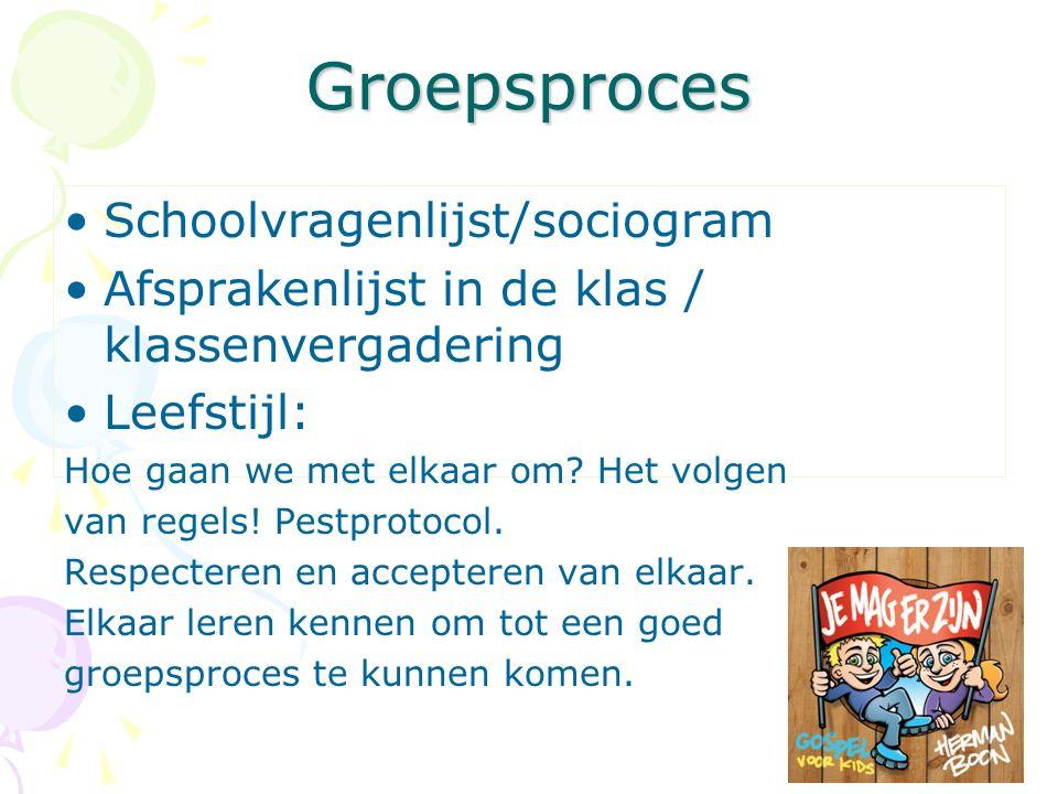 Groepsproces Schoolvragenlijst/sociogram