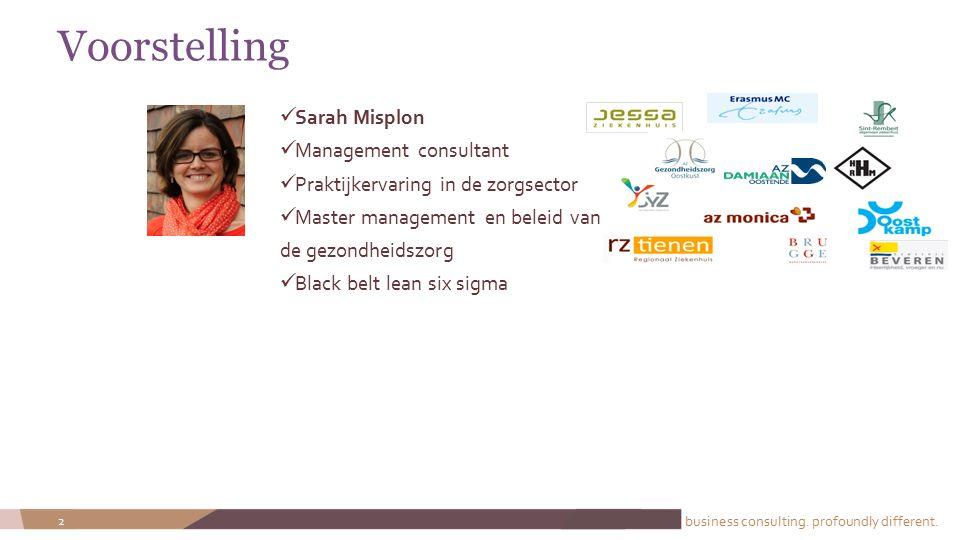 Voorstelling Sarah Misplon Management consultant