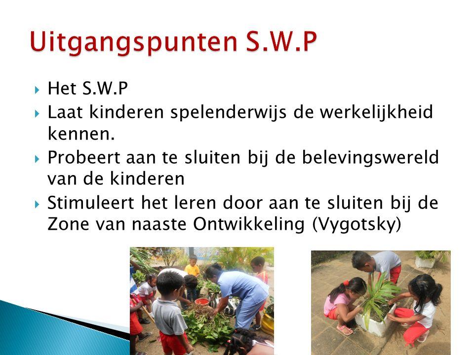 Uitgangspunten S.W.P Het S.W.P