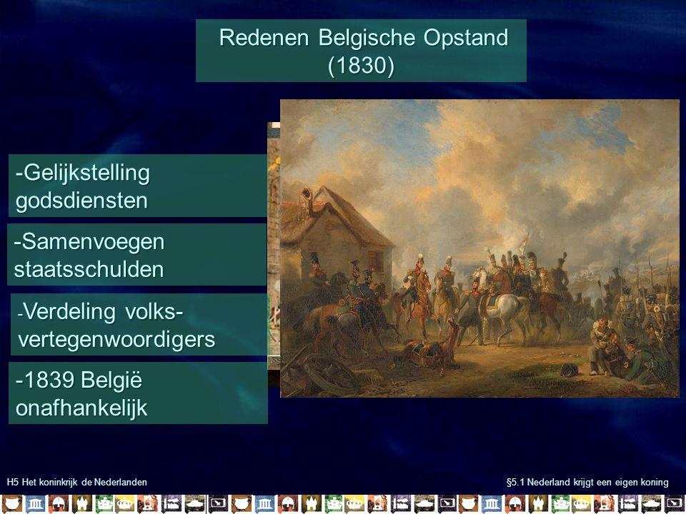 Redenen Belgische Opstand (1830)