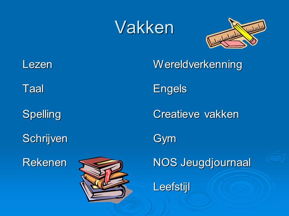 Vakken Lezen Wereldverkenning Taal Engels Spelling Creatieve vakken