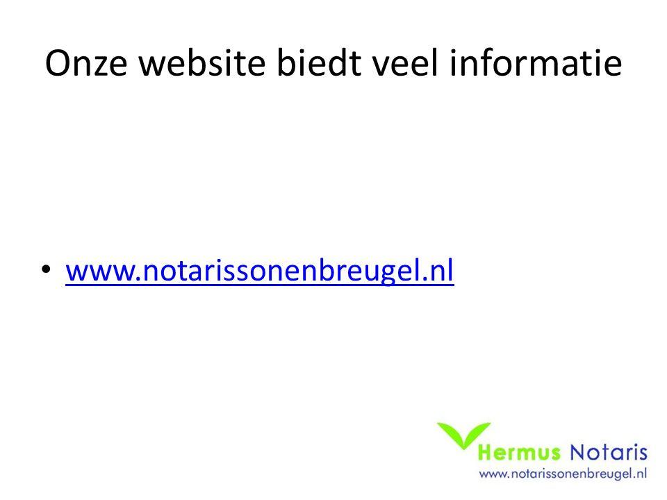 Onze website biedt veel informatie