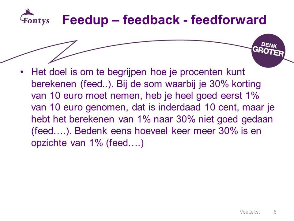 Feedup – feedback - feedforward