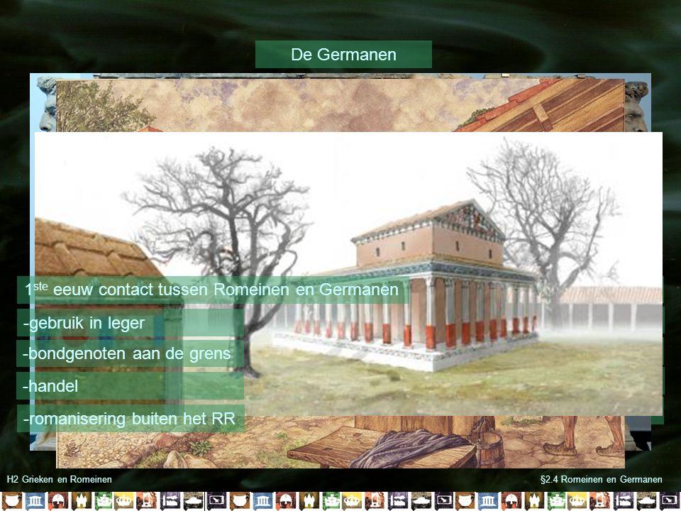 1ste eeuw contact tussen Romeinen en Germanen Va 600 v Chr naar Europa