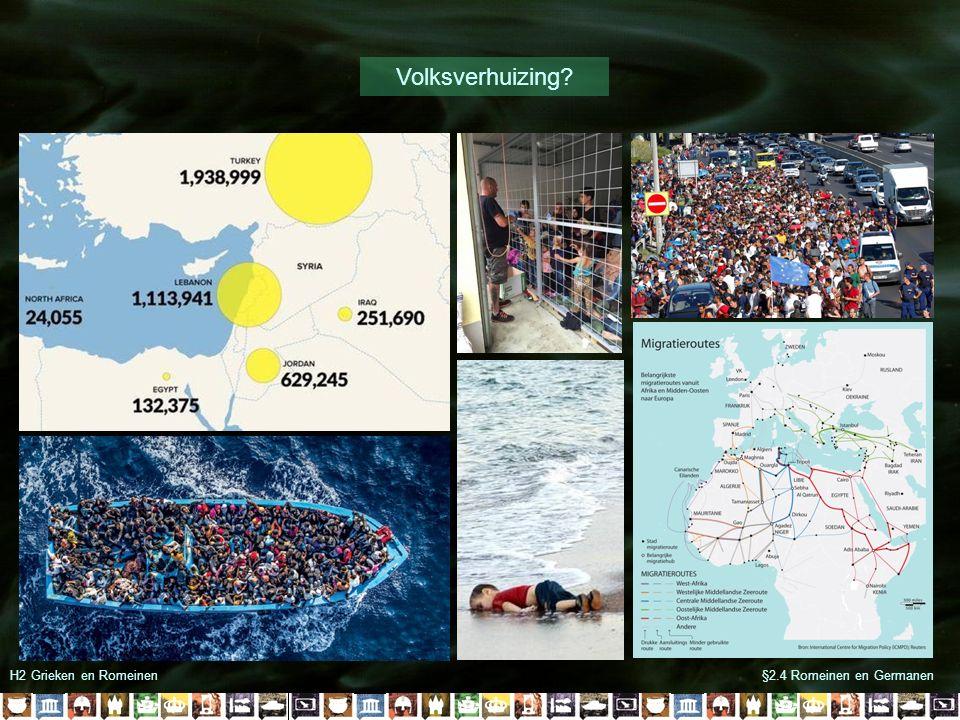 Volksverhuizing H2 Grieken en Romeinen §2.4 Romeinen en Germanen