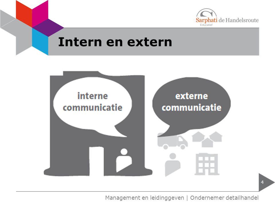 Intern en extern Management en leidinggeven | Ondernemer detailhandel